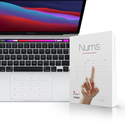 Nums Smart Number Keypad for MacBook Pro 16 in (2019 Version), Wireless Number Pad Keyboard Calculator/Web/File Qucik Open Function, Trackpad Numpad Touchpad Numeric Keypad for MacBook Pro 16 ''