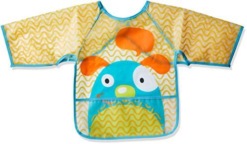 Babador com Manga Cachorro, BB341, Multikids Baby, Amarelo/Azul