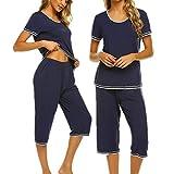 UNibelle Pijama Mujer Verano Corto Ropa De Dormir 2 Piezas
