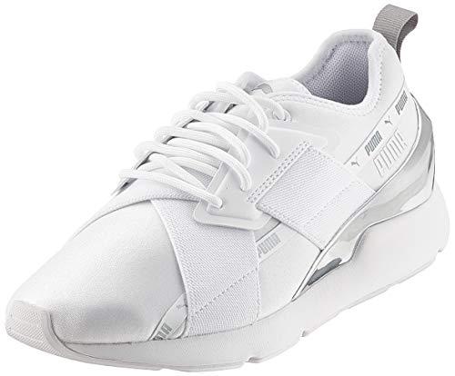 Puma Damen Muse X-2 Metallic WN\'s Sneaker, White, 39 EU