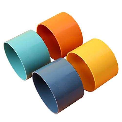 Artibetter 4 Piezas Organizador de Joyas Caja de Almacenamiento de Joyería Pequeña Apilable Soporte para Pendientes Bandeja de Joyería Caja para Pulseras Anillos Collar de Pendientes Colores