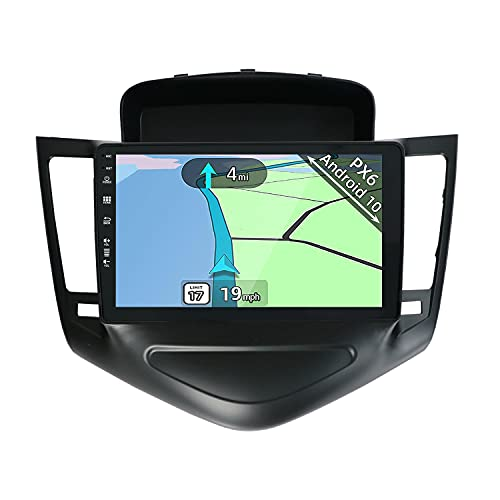 YUNTX PX6 Android 10 Autoradio adatto per Chevrolet Cruze(2009-2014) - 4G+64G - 9 Pollice GPS 2 Din -Telecamera Posteriore Gratuiti -Supporto DAB / Controllo del volante / WiFi / Bluetooth /Mirrorlink