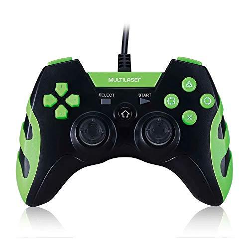 Multilaser Js091 Controle Gamer Ps3 E Pc Preto E Verde Multilaser – Js091, Verde E Preto - Sony_playstation3