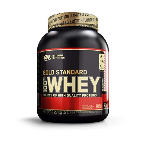 Optimum Nutrition 100% Whey Gold Standard, Proteine Whey in Polvere, Cioccolato Bianco e Lampone, 2.27 kg, 73 Porzioni