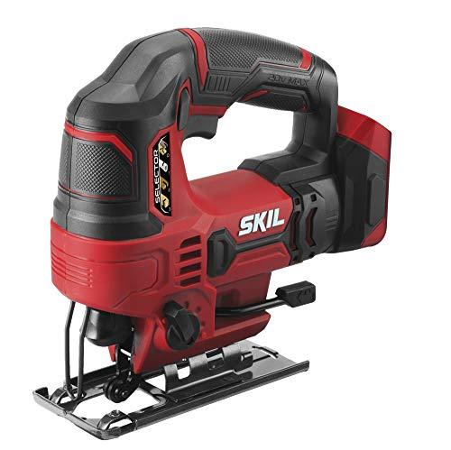 SKIL 20V 7/8 Inch Stroke Length Cordless Jigsaw, Bare Tool - JS820301