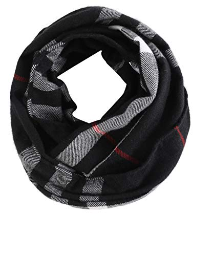 Kid Toddler Girls Boy Infinity Scarf - Plaid Soft Loop Scarfs for Little Children Baby 8-12 Years Old, 2019 Valentines Daughter Top Teenage Preschool Graduation Toddler Ideas Christmas Fashion Gift