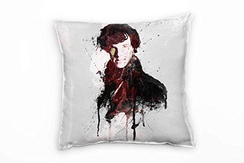 Paul Sinus Art Sherlock Holmes Deko Kissen Bezug 40x40cm für Couch Sofa Lounge Zierkissen - Dekoration zum Wohlfühlen