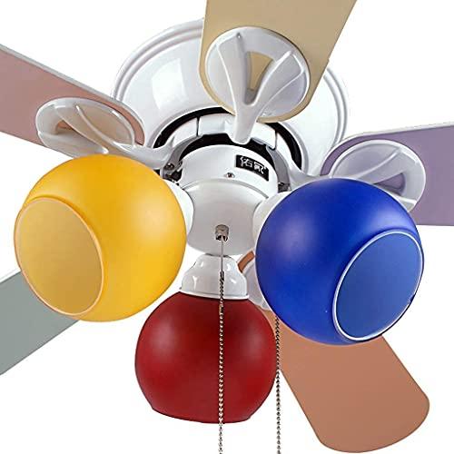110V-220V Ventilador de techo con lámpara Ventilador de techo Luz 108 cm Ventilador de techo para niños Lámpara de color Lámpara Dormitorio Habitación para niños Ventilador de techo Ventilador de tech