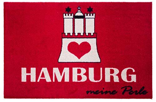 Hamburg meine Perle Türmatte 60 x 40 cm Hamburger Moin