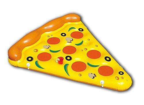 New Plast, 0897 -Colchón Hinchable, Forma de Pizza, Dimensiones 180x 150cm