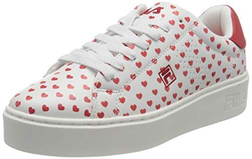Fila Crosscourt Altezza, Zapatillas Mujer, Blanco (White/Red), 40 EU
