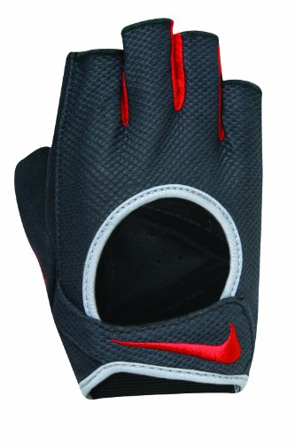 Nike Sports Wear–Guanti da Fitness e Esercizio Allenamento Guanti, Nero/Rosa, Unisex, Anthracite/Sports Red/Wolf Grey