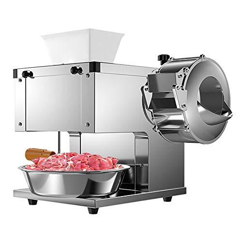 Rebanadora de carne eléctrica, máquina automática para cortar verduras y alimentos comercial de 850 W, picadora de carne de acero inoxidable de pequeño espesor ajustable
