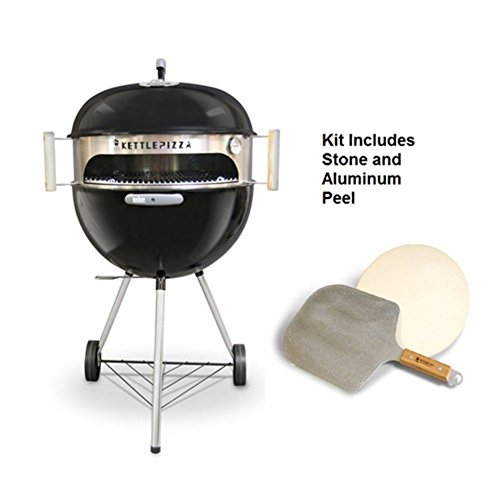 Made in USA KettlePizza Deluxe USA Pizza Oven Kit for Kettle Grills - Includes...