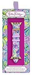 bright floral lilly pulitzer apple watch band