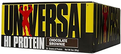 Universal Nutrition Chocolate Brownie Hi Protein Bars Pack of 16