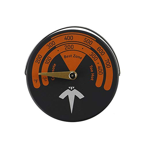 Magnetische Herd Thermometer Holzofen Rohr Thermometer Hause Gauge Kaminrohr Meter