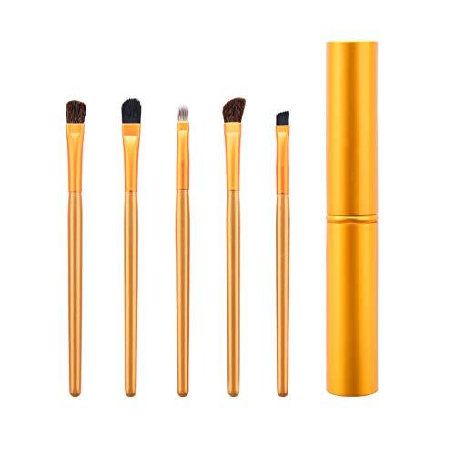 Drawihi Pinceaux Maquillages Premium Coloré Fondation Mélange Blush Yeux Visage Poudre Brosse Cosmétiques 1Pcs (or)