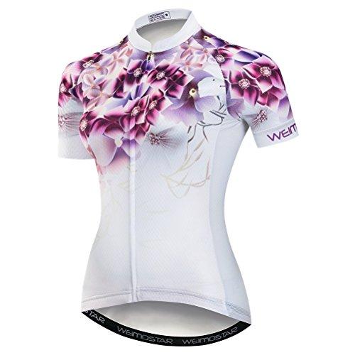 Weimostar - Maglia da ciclismo in jersey da donna, per mountain bike, a maniche corte e da corsa, abbigliamento da porta, sport, MTB, abbigliamento estivo, taglie XL
