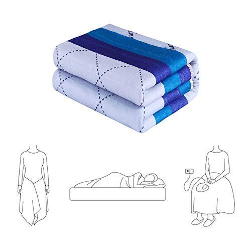 Dubbel verwarmingsdeken, verwarmde deken, snelle opwarming met auto-off-veiligheidstechnologie en warmte-instellingen, lichaamswarme slaapbank voor thuis en op kantoor.