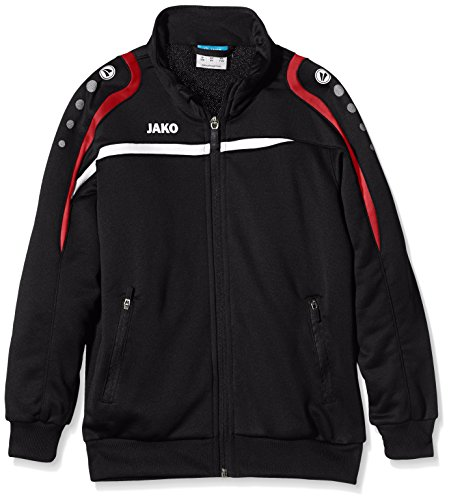 Jako Kinder Trainingsjacke Performance Jacke, schwarz/Weiß/Rot, 152