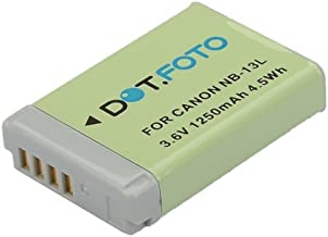 Dot Foto NB-13L PREMIUM Replacement Rechargeable Camera Battery for Canon 3 6v 1250mAh  See Description for Compatibility