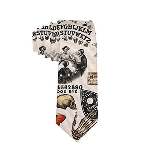 Polyester Textile Vintage crâne squelette toile d'araignée sorcière conseil gothique cravate pour hommes garçons formelle affaires fête de mariage costume cravate