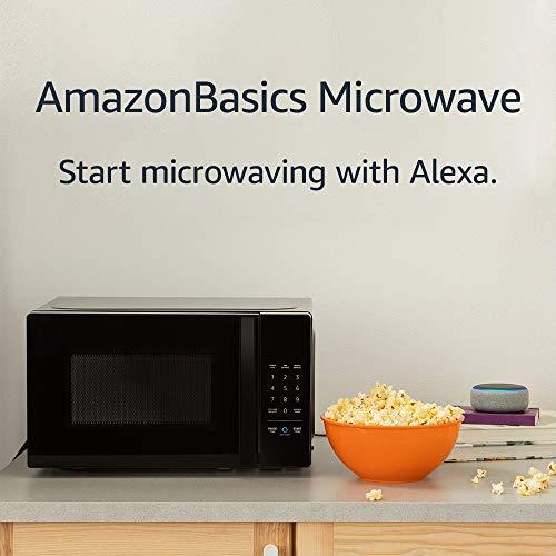 AmazonBasics Microwave, Small, 0.7 Cu. Ft, 700W, Works with Alexa
