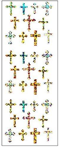 【10枚セット】プリズムシール 十字架 BCP111【ご注文1回につき1個 サン・クロレラ サンプルプレゼント!】