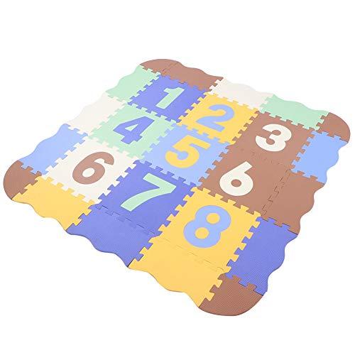 Redxiao 【𝐎𝐟𝐟𝐫𝐞 𝐁𝐥𝐚𝐜𝐤 𝐅𝐫𝐢𝐝𝐚𝒚】 25 pièces paillasson de Salon imperméable EVA Anti-dérapant pour Enfants paillasson Non décoloré pour Les Tout-Petits(Type A)