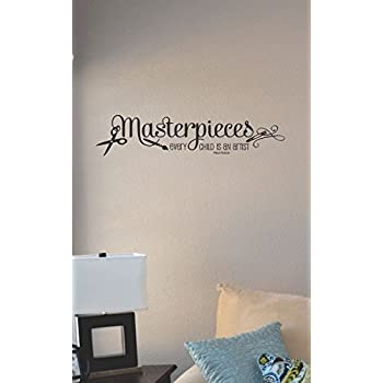 Masterpieces Vinyl Lettering Wall Decal Sticker Wall Sayings Vinyl Lettering /並/行/輸/入/品 12.5H x 40L Black, 12.5H x 40L