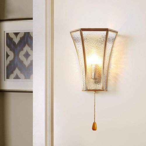 Wandlamp, modern, goudkleurig, wandlamp voor thuis, koper, wandlamp, single, LED, wandlamp voor woonkamer