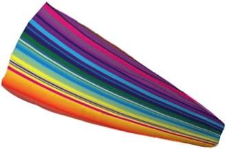 "Bondi Band Colorful Stripes Moisture Wicking 4"" Headband"