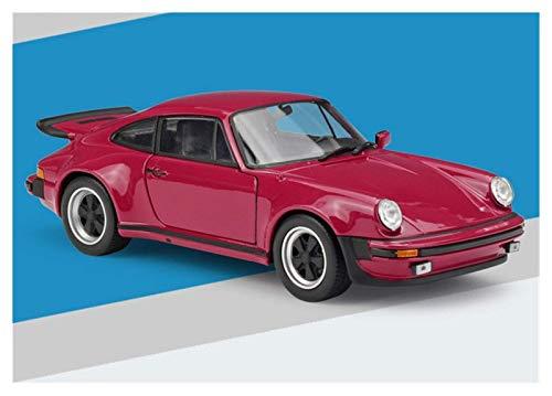 hjj Modelo Coche 1:24 para Porsche 911 para Turbo 3.0 Fucsia Aleación Modelo de automóvil Modelo Modelo Collection Collection Regalo Modelo de Coche para Niños Regalo jianyou