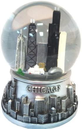 Musical Chicago Snow New product!! Globe - Look 100mm Water Pewter Milwaukee Mall