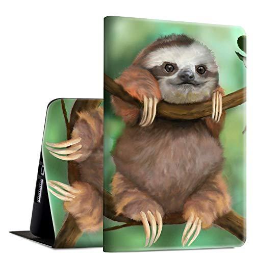 iPad Mini 3/2/1 Case, Rossy PU Leather Folio Smart Cover TPU Shock Protection Case with Adjustable Stand & Auto Wake/Sleep Feature for Apple iPad Mini 1/Mini 2/Mini 3,Cute Baby Sloths