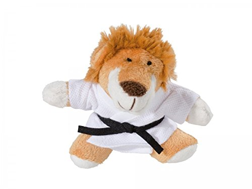 KWON LION SAM PLÜSCH Schlüsselanhäger Mini-Plüschtiere HUND Glücksbringer Karate Judo Kickboxen Budo Kampfsport Ju Jutsu TKD Taekwonde BJJ Aikido Kick Boxen