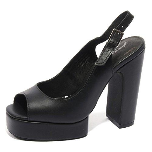 Jeffrey Campbell B2212 Sandalo Donna MICHLENE Scarpa Nero Shoe Woman [37]