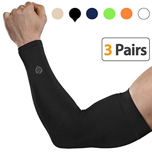 SHINYMOD Cooling Sun Sleeves 2020 Newest Upgraded Version 1 Pair/3 Pairs/6 Pairs UV Protection Sunblock Arm Tattoo Cover Sleeves Men Women Cycling Driving Golf Running