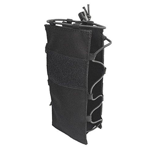 Sharplace Porte-Bouteille Sac Molle Poche de Bouteille en Nylon 1000D Sac pour Voyage Camping Randonnée - Noir, 20x8x1cm