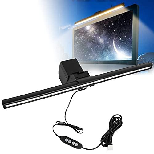Barra de pantalla de computadora LED lámpara Barra de luz de pantalla, luz de tarea LED de lectura electrónica, no deslumbrante en la pantalla, luz de monitoreo alimentada