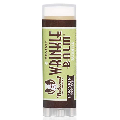Natural Dog Company Wrinkle Balm Trial Stick, Cleans and Protects Dog Wrinkles and Skin Folds, Perfect for Bulldogs, All Natural, Organic Ingredients, 0.15oz Trial Stick, 1 Count, Packaging May Vary