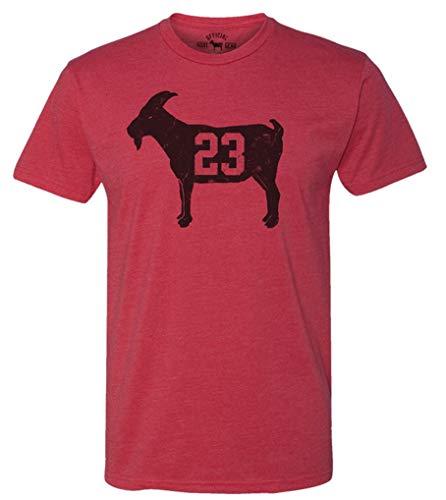 Official Goat Gear - Goat 23 - Vintage Jordan T-Shirt (Large) Red Heather