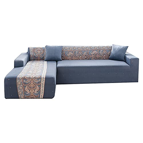 WXQY Funda de sofá con Estampado geométrico para Sala de Estar, Paquete Completo, Funda de sofá en Forma de L, Funda de sillón, Funda de sofá A12, 1 Plaza