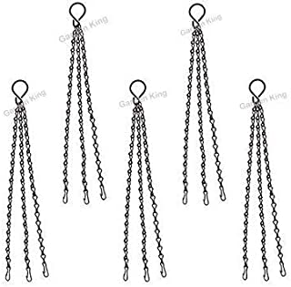 GARDEN KING Metal Chain for Hanging Basket, Bird Feeders and Hanging Pots (14 Inch Length, Pack of 5) Plant Pot Chain Hang...