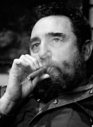 ConversationPrints Fidel Castro Smoking Cigar Glossy Poster Picture Photo Print Cuban Dictator