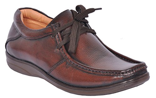 Zoom Office Shoes for Men Genuine Leather Dress Formal Shoes Online D-2570-Brown-9