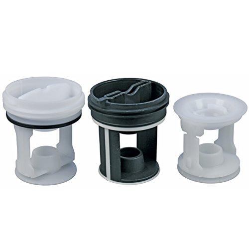 Whirlpool 482000022624 Indesit C00045027 ORIGINAL Flusensiebkit Fusselsiebkit Fusselsieb Fusselfiltereinsatz Filter Flusensieb Sieb Kit 3er Waschmaschine auch Hotpoint Creda