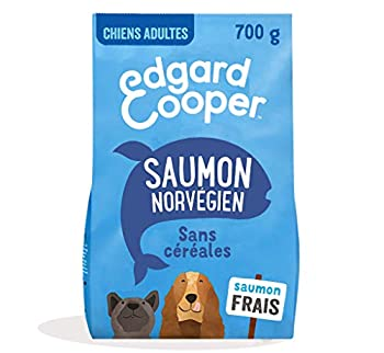 Edgard & Cooper Croquettes Chien Adulte sans Cereales Nourriture Naturelle 700g Saumon Frais Hypoallergénique, Alimentation Saine savoureuse et équilibrée, Protéines de qualité supérieure