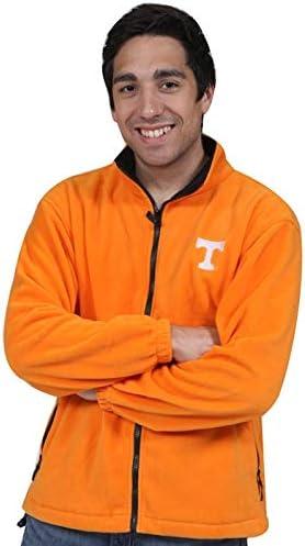 Royce Apparel Tenn Tall FZ Fancy Polar Fleece Orange Men's Jacket (3XLT)